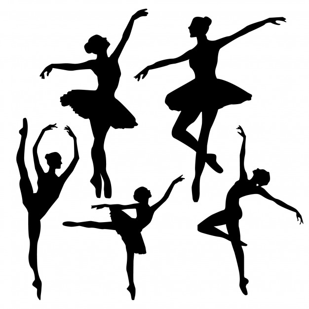 626x626 Ballet Silhouettes Vector Free Download