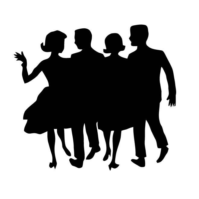660x660 Silhouette Of Dancing Couple