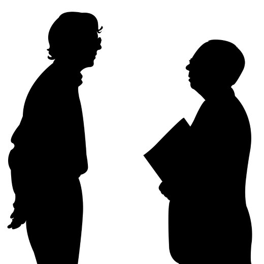 520x520 Two People Talking Silhouette Clipart