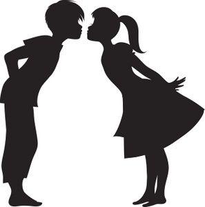 297x300 First Kiss Clipart Image