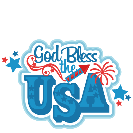 432x432 God Bless The Usa Title Svg Scrapbook Cut File Cute Clipart Files
