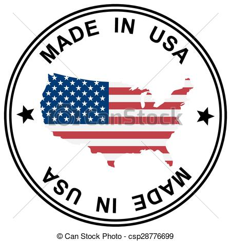 450x470 Round Patch Made In Usa With Silhouette Of Usa Eps Vectors