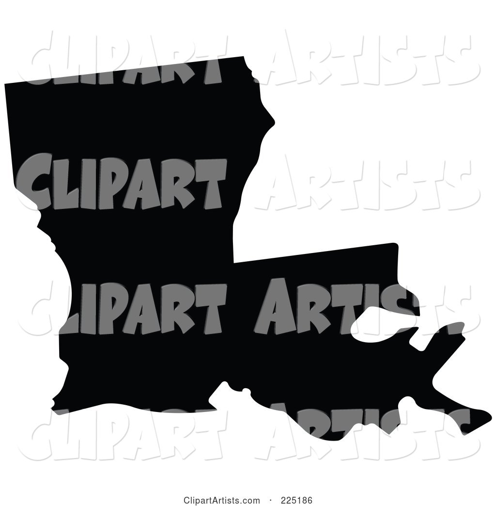 1024x1044 Black Silhouette Of Louisiana, Usa Clipart By Jr (Vectorized)
