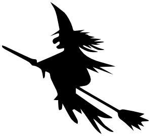 299x269 Flying Witches Clipart
