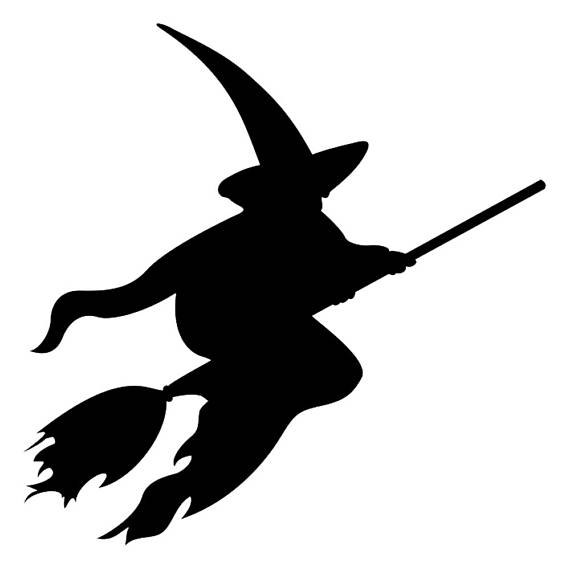 570x570 Halloween 2018 Witch Flying With Broom Hat Stencil Profile 5