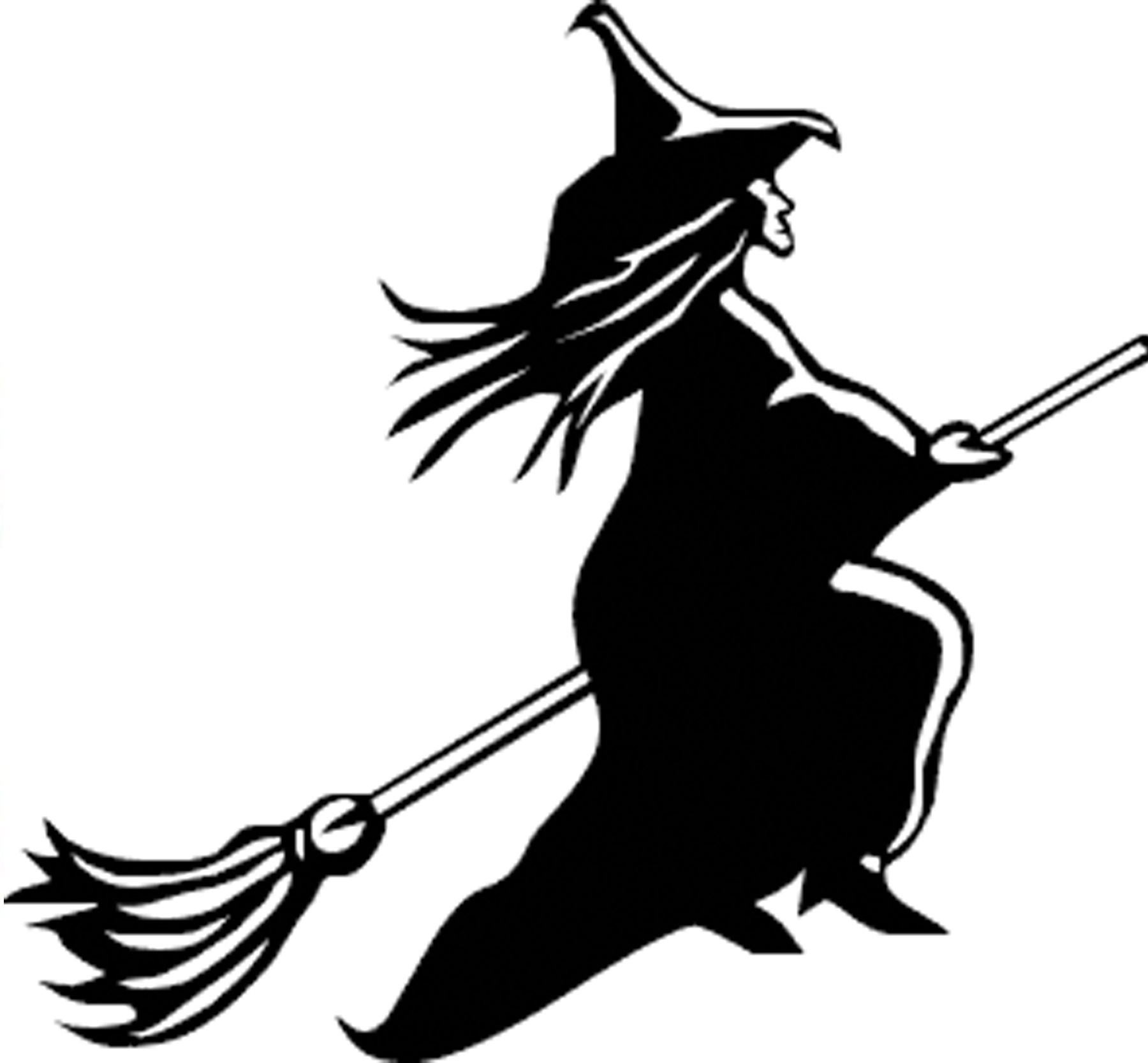 silhouette of witch flying on broom at getdrawings com free for rh getdrawings com clip art witches brew clip art witch face