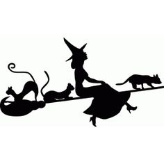 236x236 Witch Flying Witch On A Broom Silhouette Flying Witch, Witches