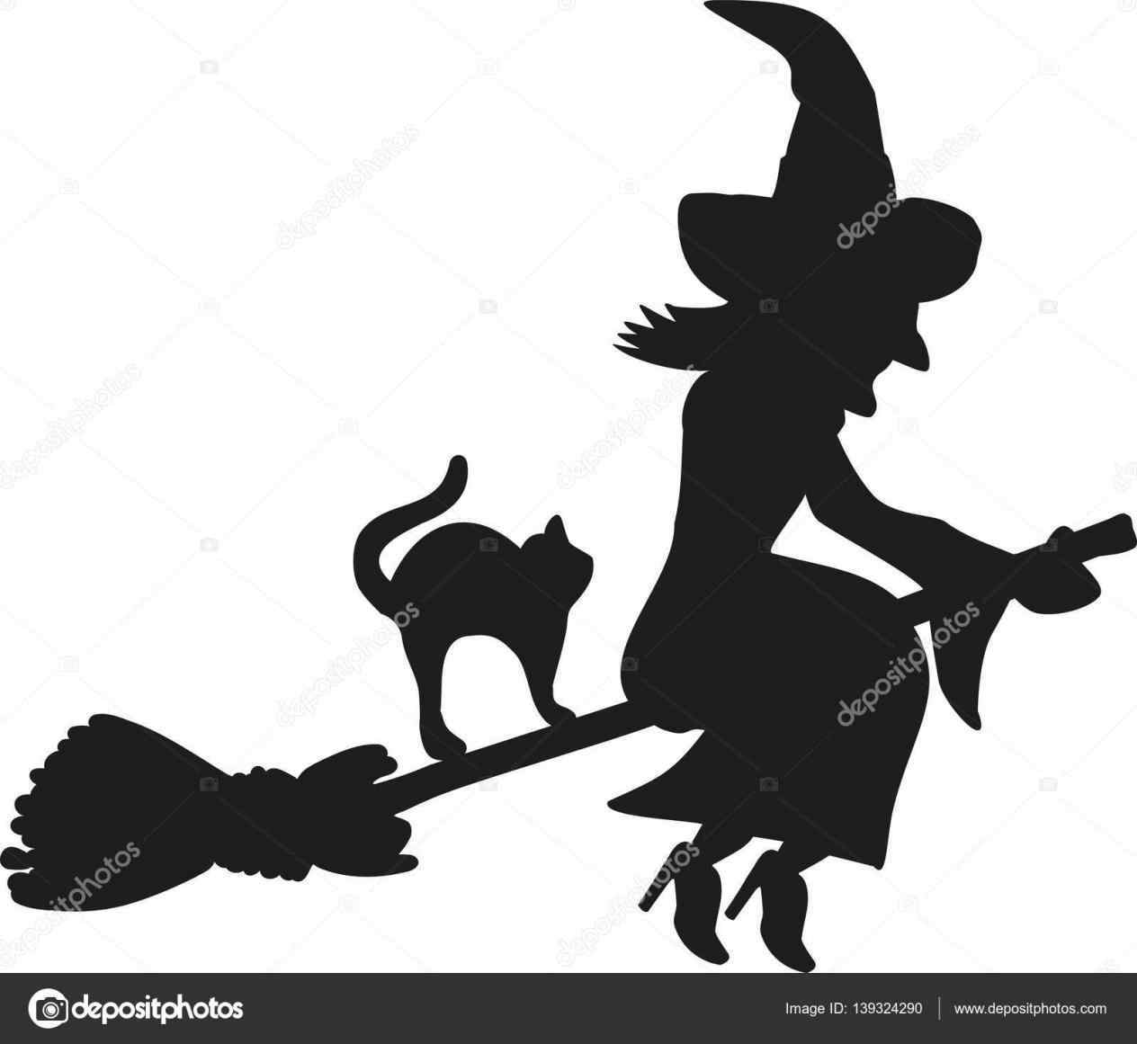 1264x1161 Cat Broom Silhouette Clipart Clipgroundrhclipgroundcom Witch Cat