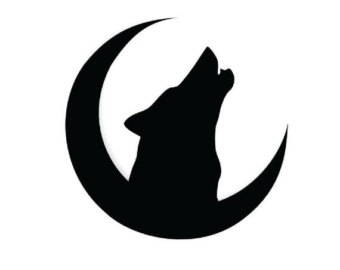 340x270 Howling Wolf Decal Etsy