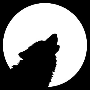 300x300 Wolf Moon Clipart