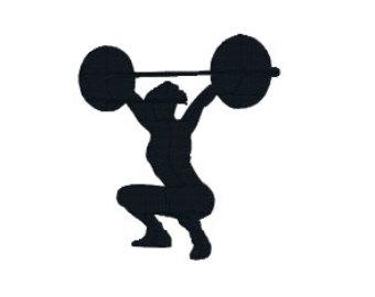 340x270 Woman Clipart Weightlifter