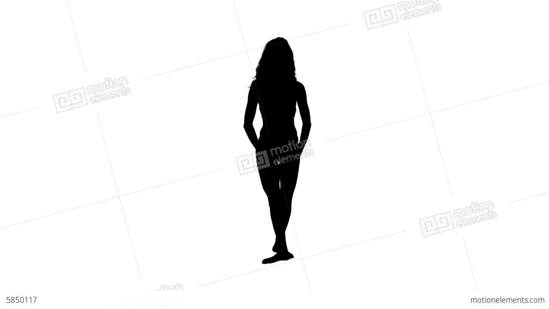 1920x1080 Pretty Woman Ballet Dancing Silhouette Stock Video Footage 5850117