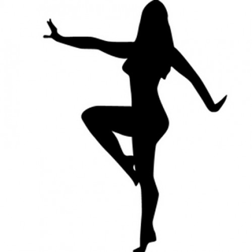 500x500 Woman Dancing Silhouette