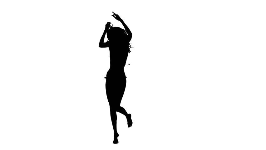852x480 One Caucasian Woman Pole Dancer Dancing In Silhouette Studio