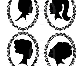 340x270 Little Girl Silhouette Head Clipart Collection
