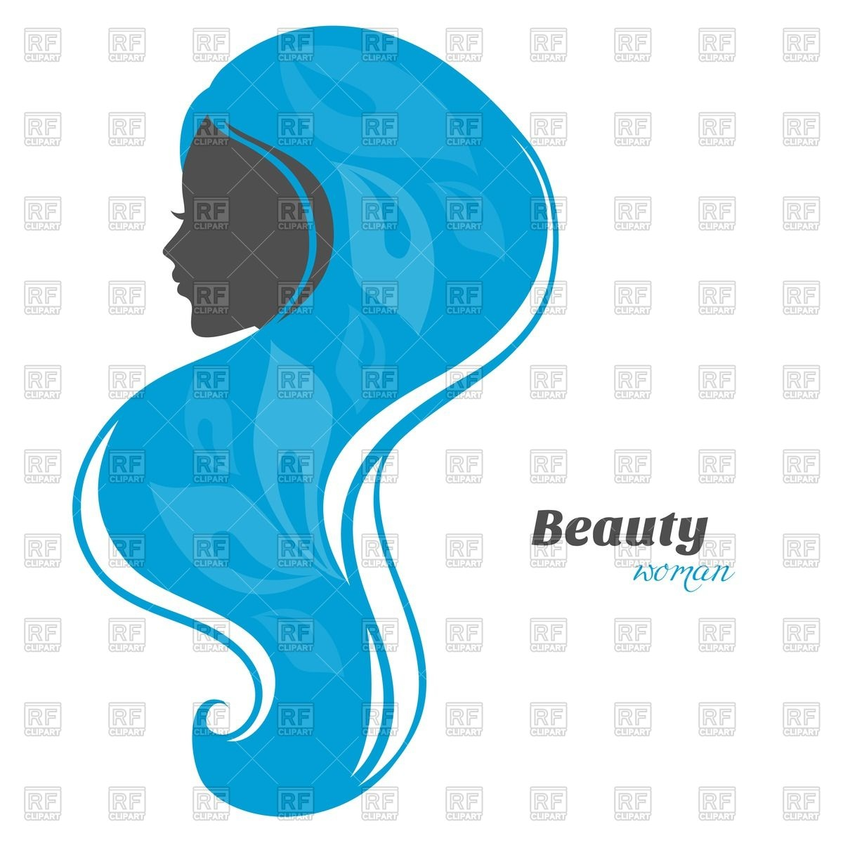 1200x1200 Silhouette Of Woman Head With Abstract Blue Floral Background