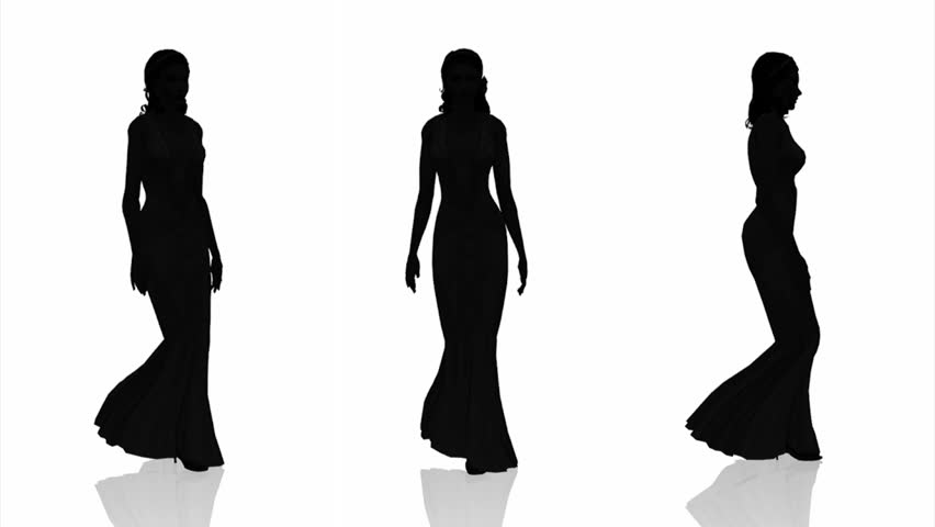 852x480 Silhouette Of Woman Stock Footage Video 1950013 Shutterstock