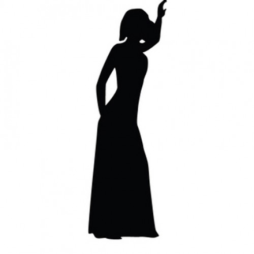 500x500 Woman With Long Dress Silhouette