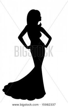 236x369 Dress Silhouettes Bridal Clipart Of A Silhouette Of A Beautiful