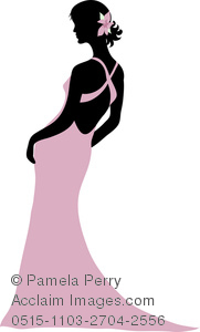 181x300 Dress Silhouettes Clip Art Image Of A Woman Wearing An Evening