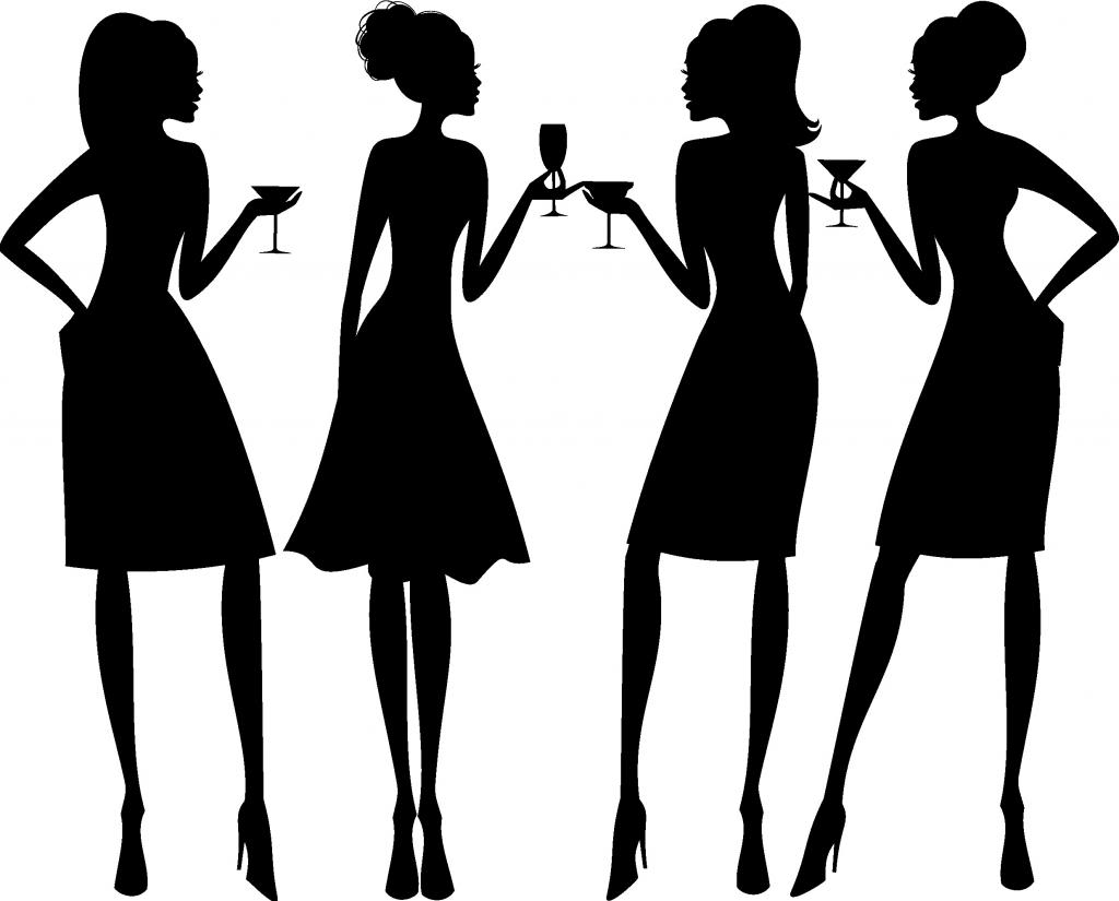 1024x825 Fashion Clipart Lady Party