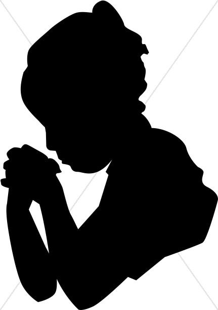 431x612 Little Girl Praying In Silhouette Prayer Clipart