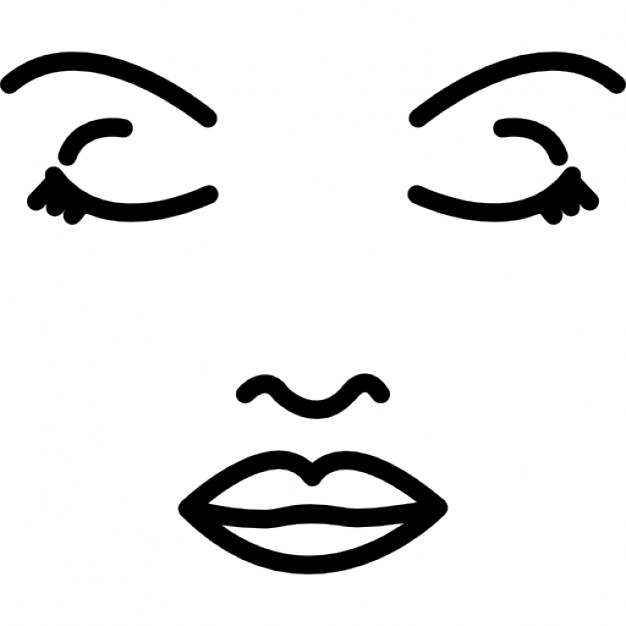 626x626 Face Of A Woman Outline Icons Free Download