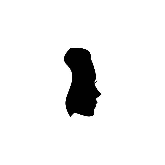 570x570 Woman's Face Silhouette Svg Mother's Day Card Design