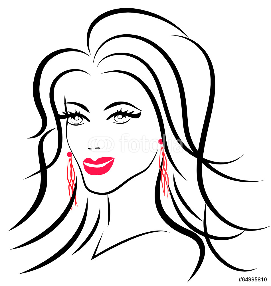 950x1000 Beauty Face Fashion Woman Logo Silhouette Wall Sticker Wall Stickers