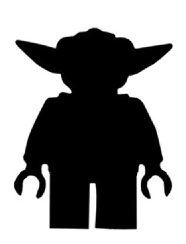 382x500 20 X Star Wars Lego Yoda Silhouette Card Toppers Any Colour