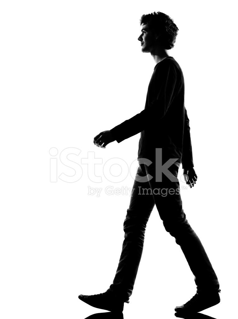 765x1024 Young Man Silhouette Sad Walking Stock Photos