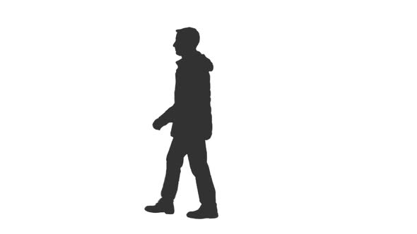 590x332 Black And White Silhouette Of A Young Man Walking In The Street By