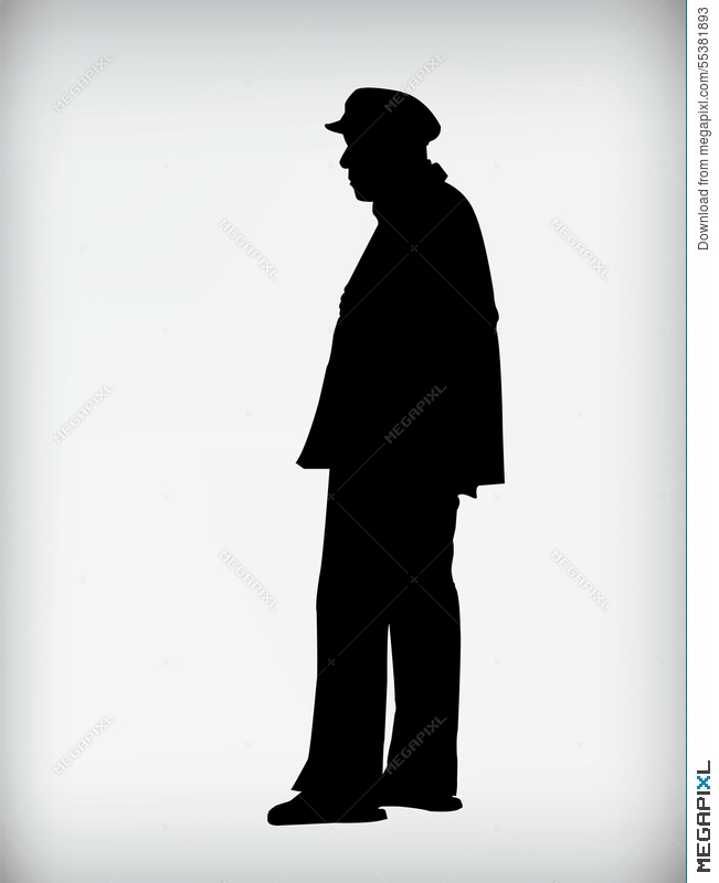 Silhouette Old Man