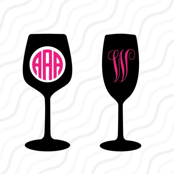 570x570 Wine Svg, Wine Glass Svg, Wine Monogram Svg Cut Table Design,svg
