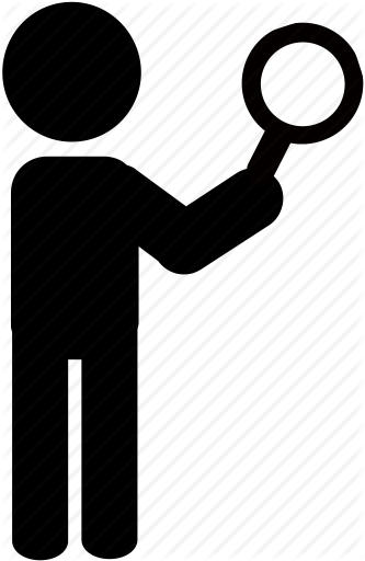 333x512 Detective, Magnifying Glass, Person, Search, Searching, Silhouette