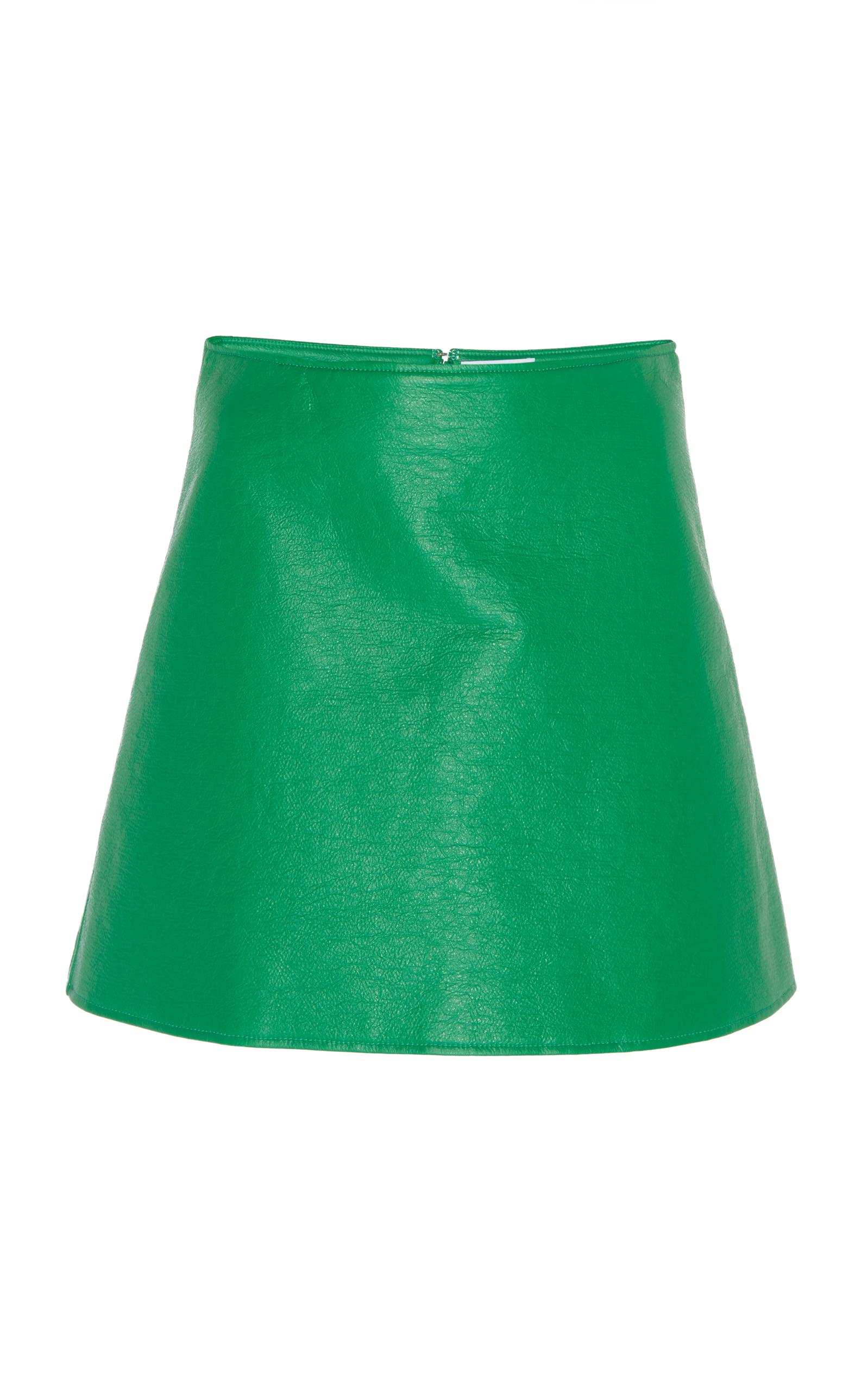 1598x2560 Women Mat Vinyl Mini Skirt Logo On The Back