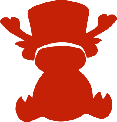 386x400 Baby Reindeer Silhouette