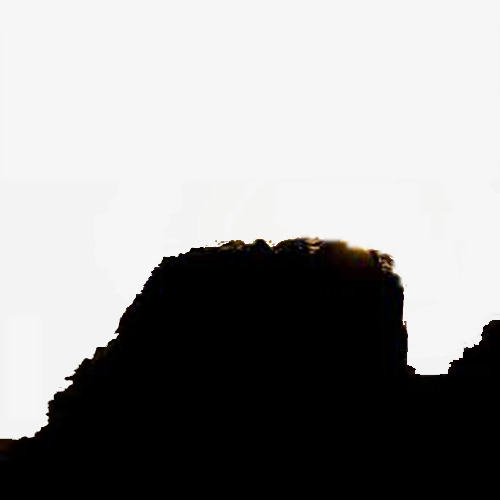 Silhouette On Mountain