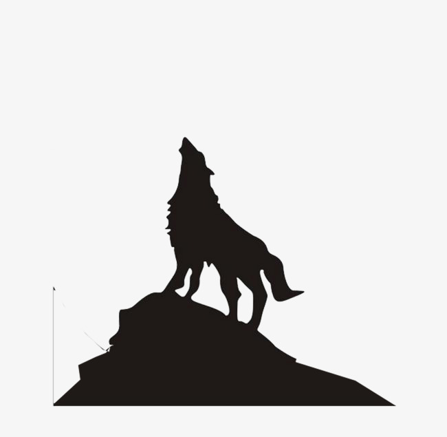 650x635 Wolf Silhouette On The Mountain, Alpine, Wolf, Zhang Hao Sky Png