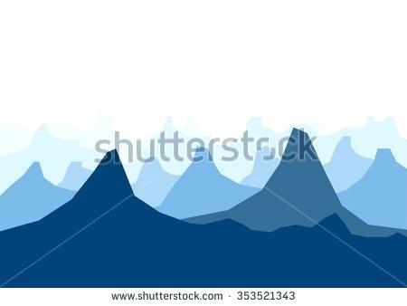 450x338 Mountain Landscape Silhouette Landscape Silhouette Mountain