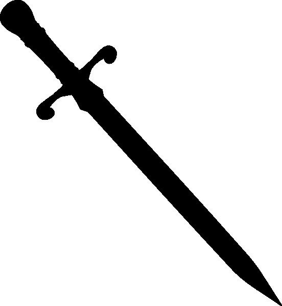 552x600 Sword Silhouette Clip Art