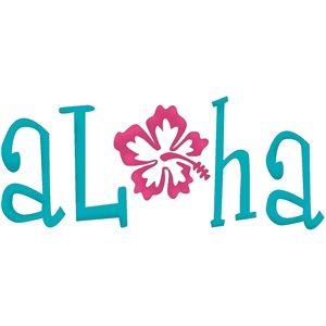 300x300 Silhouette Design Store Aloha Word Basteln