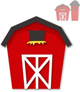 263x300 Red Barn Free Clipart, Fonts And Borders Fonts