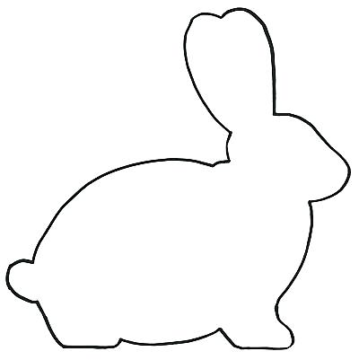 400x401 Bunny Templates Silhouette Coloring Pages Bunny Rabbit Outline