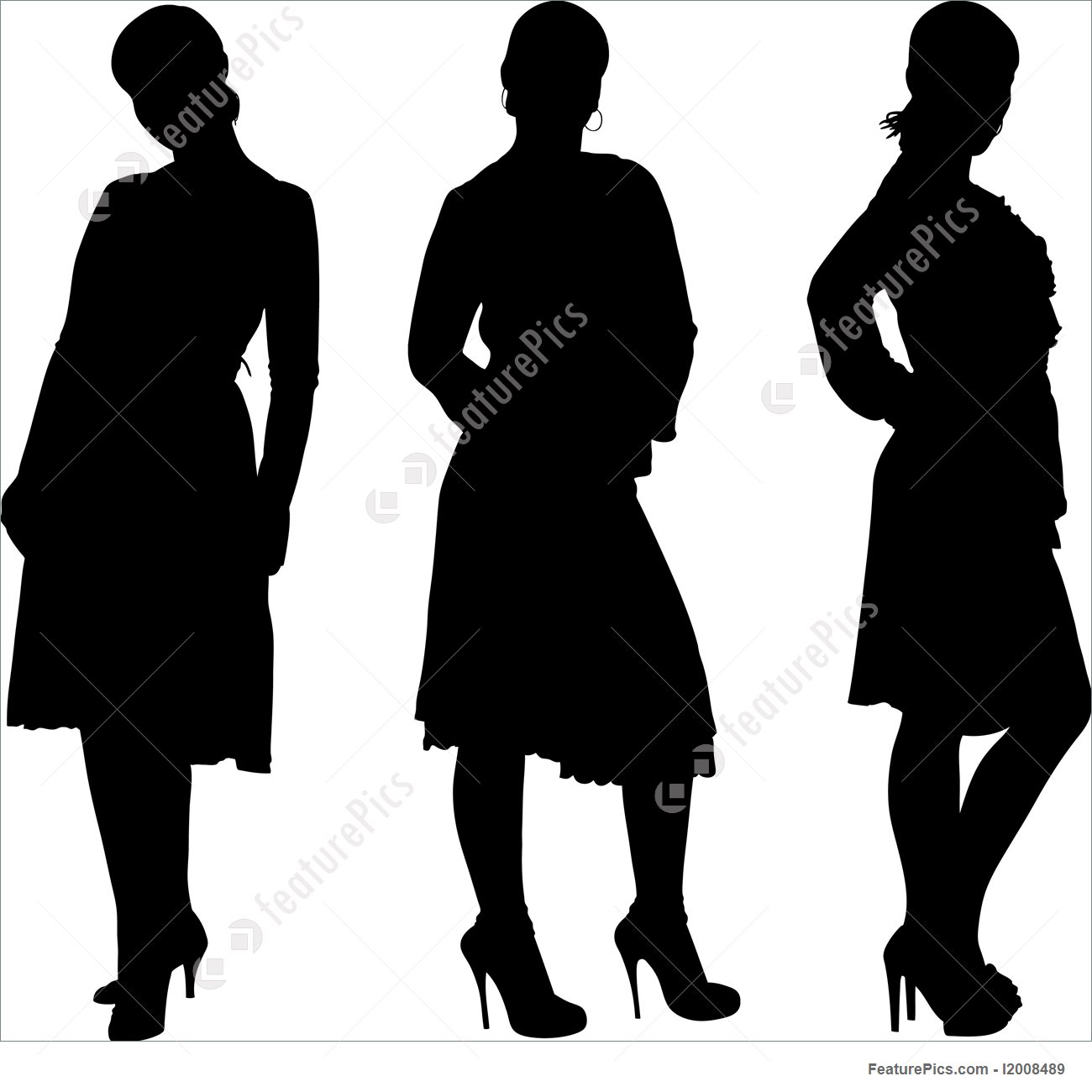 1300x1300 Silhouettes And Outlines Girl Posing Silhouette
