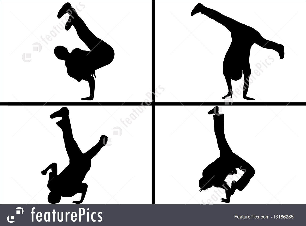 1300x962 Silhouettes And Outlines Street Dancer Silhouette