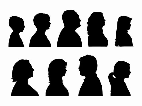 468x351 Cameo Silhouette Outlines