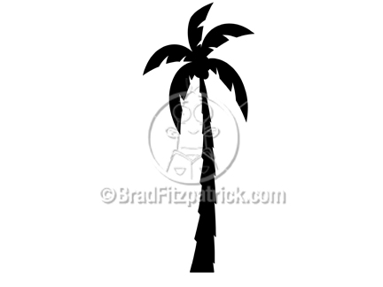 432x324 Silhouette Clipart Of A Tall Palm Tree
