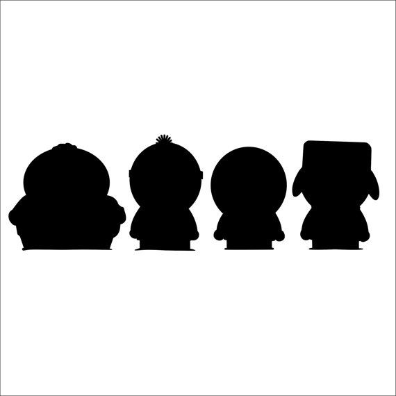 570x570 Items Similar To South Park Characters Silhouette Vinyl Decal (2