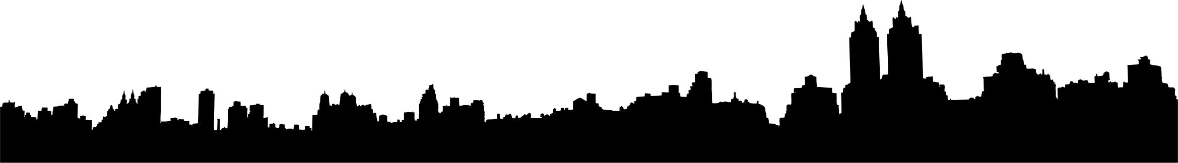 2338x324 New York Central Park Skyline Silhouette Icons Png